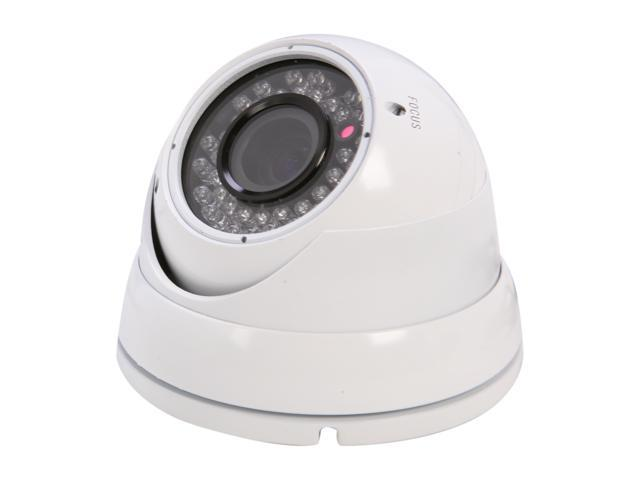 Vonnic VCD506W 580 TV Lines MAX Resolution Outdoor Night Vision Dome Camera - White