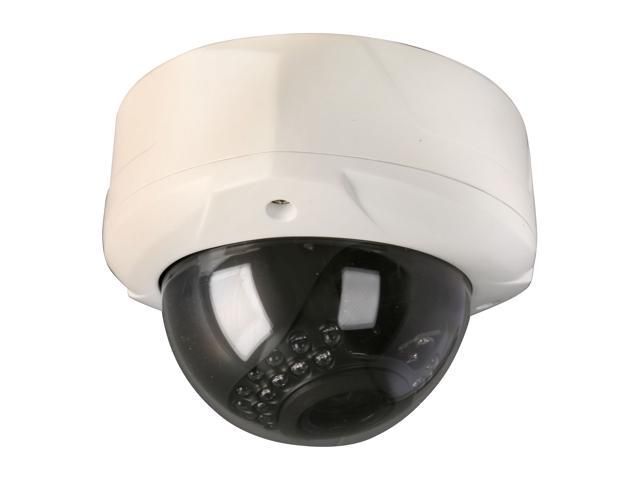 Vonnic VCD535W 680 TV Lines MAX Resolution BNC Vandal Proof High Resolution 3 AXIS Design WDR License Plate Dome Camera - White