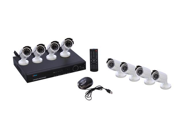 eSecure ES036883 16 Channel H.264 Level EZ Wizard DVR w/ 8 IR Bullet Cameras