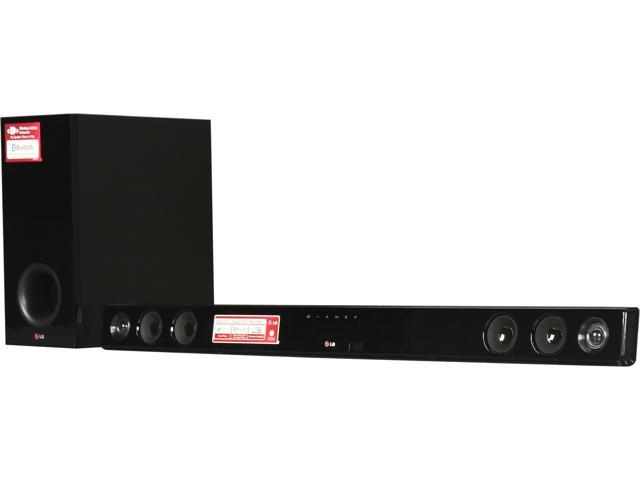 open box lg nb3530a 2 1 channel sound bar with wireless subwoofer. Black Bedroom Furniture Sets. Home Design Ideas
