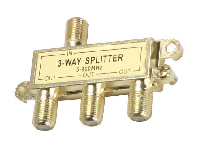Rosewill - 3-Way Coaxial Cable Splitter