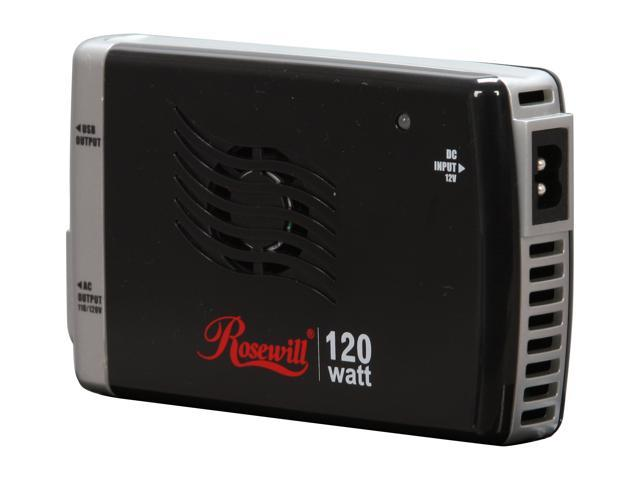 Rosewill RCP-511G 120W Auto/Air Slim Line Power Inverter with USB Port