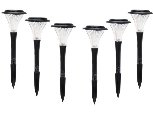 Rosewill Black Solar Garden Lights - 6 Lights Set