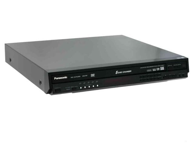 Panasonic DVD-F87K Black 5-Disc Progressive Scan DVD Player W/ Multi-Format Playback