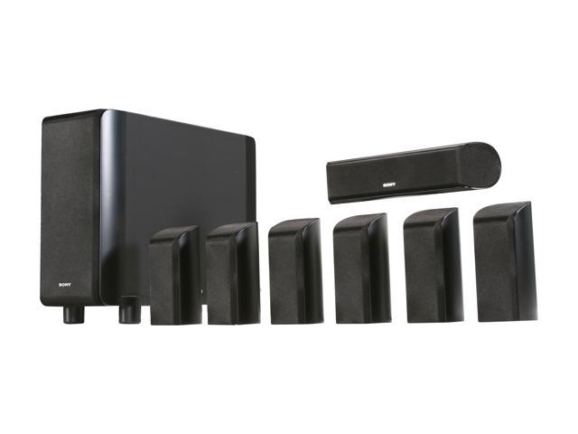 sony sa vs150h 5 1 7 1 channel home theater speaker system. Black Bedroom Furniture Sets. Home Design Ideas