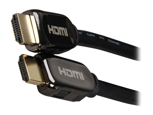 AMC HDM-HDM-LSE6 6 ft. Black / Polish Hood LUXURY SERIES Polish Hood High Speed HDMI® Cable with Ethernet Gold Plated Connector M-M