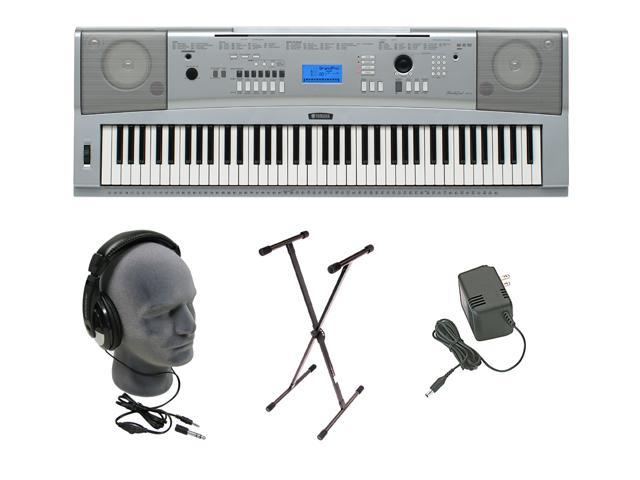 Yamaha DGX-230 76-Key Personal Keyboard w/AC Adapter, Stand and Headphone