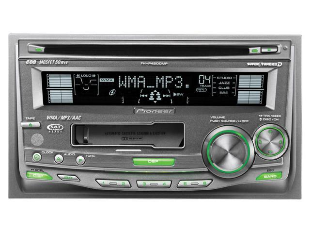 Pioneer In-Dash Double-DIN CD/Cassette Receiver