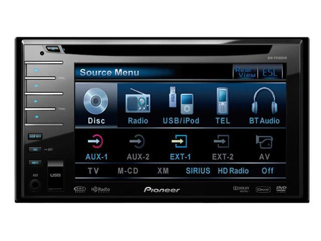 """Pioneer In-Dash 2-DIN DVD Receiver with 5.8"""" Display"""