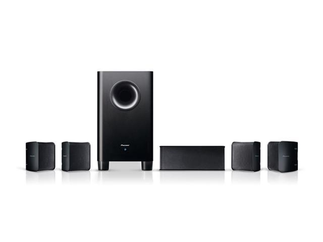 Pioneer SHS100 5.1 CH Speaker Set with Bookshelf Speakers (Black) System