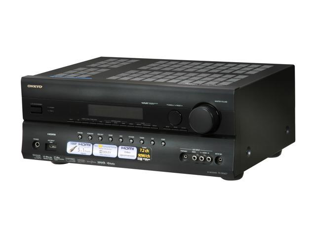 ONKYO TX-SR607 7.2-Channel Black Home Theater Receiver