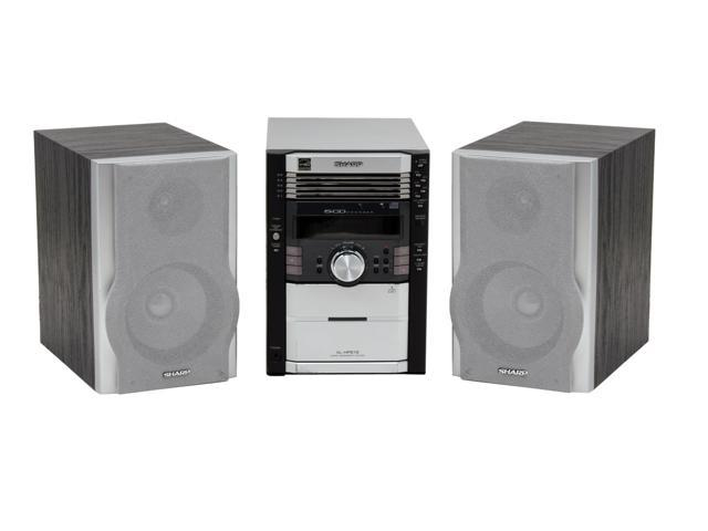 SHARP CD/Radio 5-Disc Changer Shelf System XL-HP515
