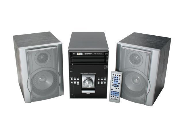 SHARP CD/MP3/Radio 5-Disc Changer Shelf System XL-UH242