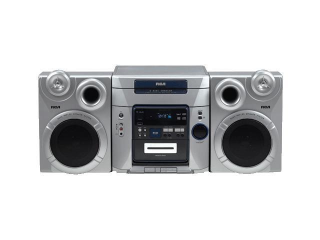 RCA CD/Cassette/MP3/Radio 5-Disc Changer Shelf System RS2653