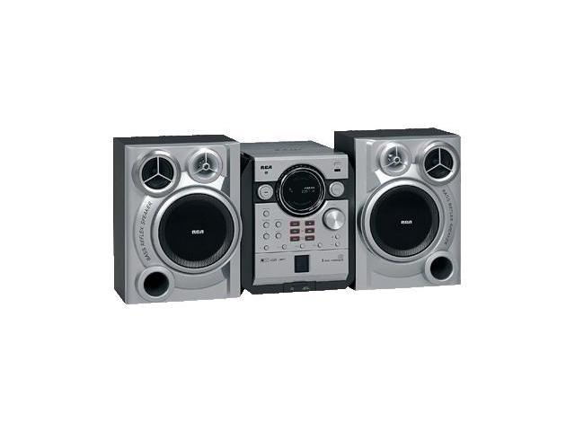 RCA CD/MP3/Radio 5-Disc Changer Shelf System RS2664