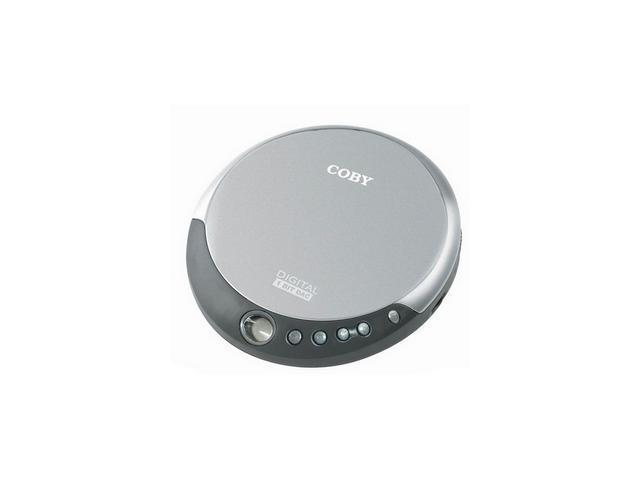 COBY Slim Personal CD Player CXCD109SVR