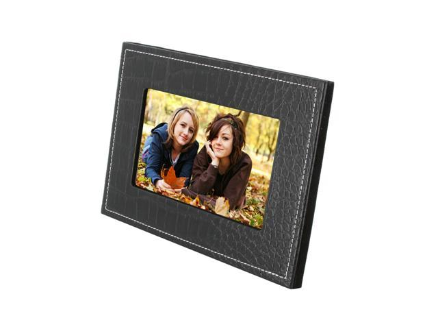 "jWIN JP187 7"" 480 x 234 Digital Photo Frame w/ Black Leather Face"