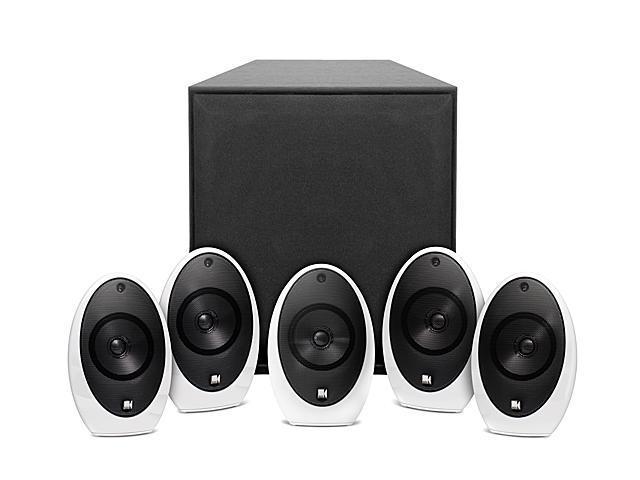kef home speakers. kef kht1005.2se home audio speaker system w/ white satellite speakers kef