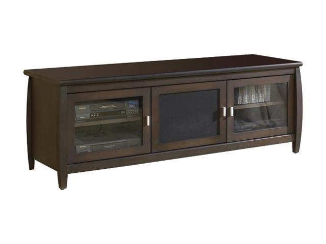"TECH CRAFT SWP60 Up to 60"" Walnut 60"" Wide Wood Veneer Finish Credenza"