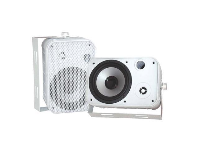 "PYLE PD-WR50W 2 CH 6.5"" Indoor / Outdoor Waterproof White Speakers Pair"