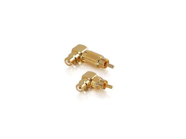Cables To Go 40651 Right Angle RCA Adapters Male To Female - 2PK