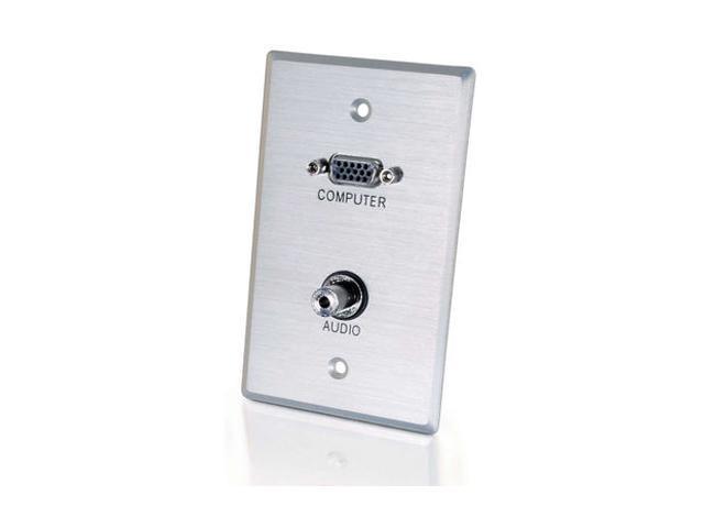 C2G 40505 Single Gang HD15 VGA + 3.5mm Wall Plate