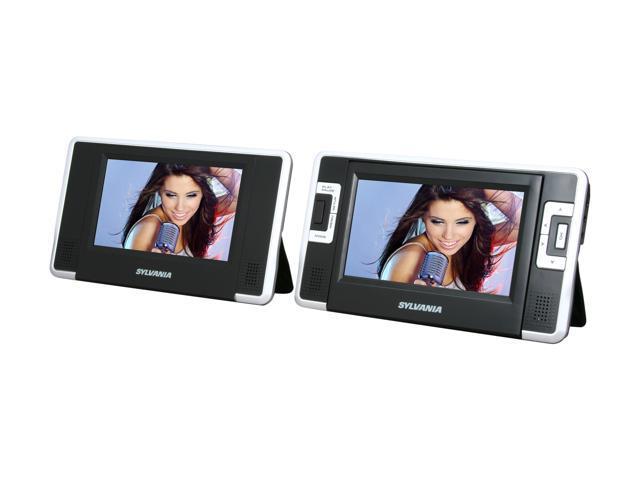 """Sylvania SDVD8730 7"""" Dual-Screen Portable DVD Player"""