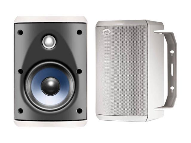 Polk Audio Atrium 45 White High Performance Outdoor Speaker Pair