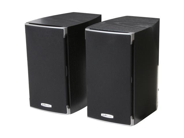 Polk Audio RTi A1 Black High Performance Bookshelf Speaker Pair, 5.25 -inch driver and a 1-inch dome tweeter
