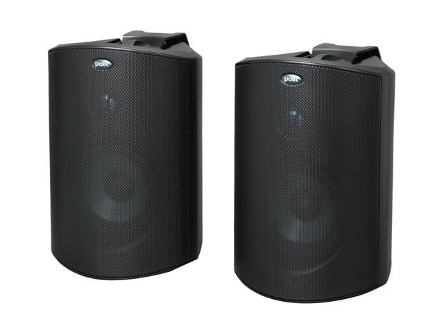 Polk Audio Atrium6 Compact Indoor/Outdoor Speaker Black Pair