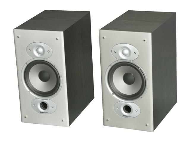 Polk Audio RTi6 Bookshelf speaker Pair (Black oak finish)