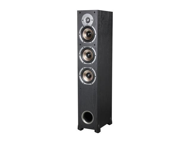 Polk Audio Monitor Series New Monitor 65T Three-Way Three-Way Ported Floorstanding Loudspeaker (Black) Single