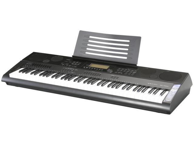 casio 76 key digital keyboard workstation audio recording wk 7500
