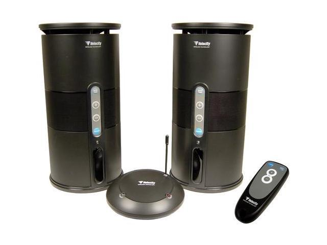 CABLES UNLIMITED SPK-VELO-001 2 CH Wireless Indoor/Outdoor Speakers w/ Remote Pair