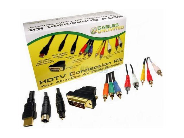 CABLES UNLIMITED AUD-HDTV-KIT Premium HDTV Cable Kit