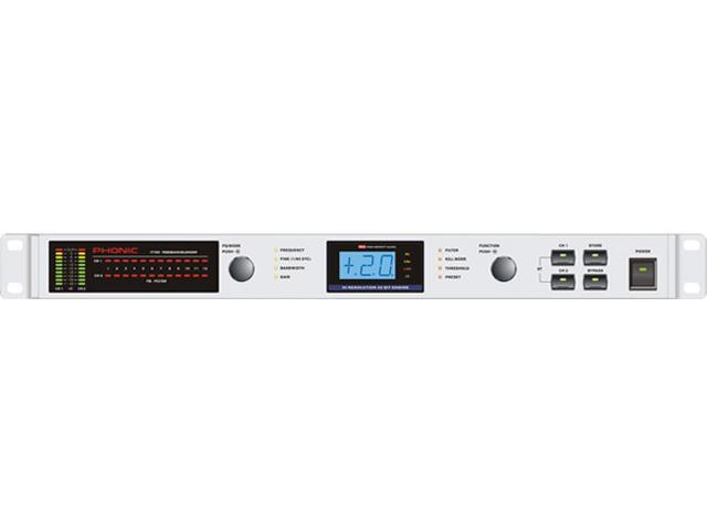 Phonic i7600 Dual 30-Band 1/3 Octave Digital Graphic Equalizer with RTA