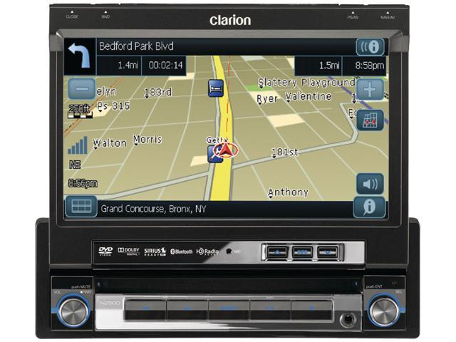 Clarion DVD Multimedia Station With Built-in Navigation & 7