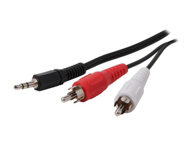 Coboc STEREO-RCA-MM-10-BK 10 ft. 3.5mm Stereo to RCA Cable