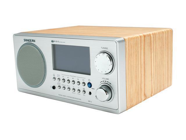 Sangean Digital AM/FM Walnut Cabinet Table-Top Radio WR-2