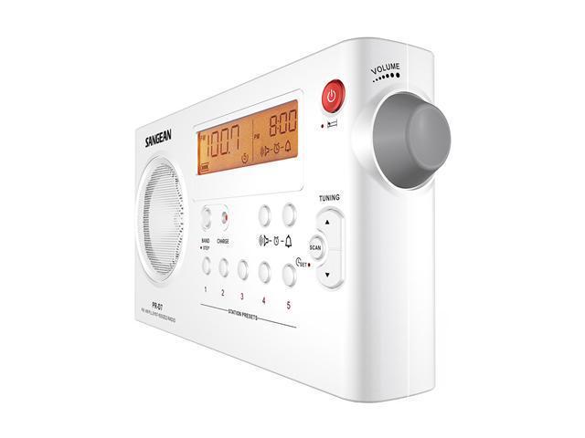 Sangean FM / AM PLL Synthesized Radio (White) PR-D7