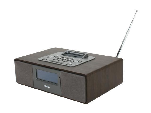 Sangean AM / FM-RBDS / iPod Dock Wooden Table-Top Receiver WR-5