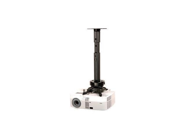 Adjustable Height Projector Ceiling Mount Kit Black