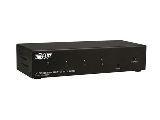 Tripp Lite DVI Single Link Video / Audio Splitter/Booster, 4-Port B116-004A