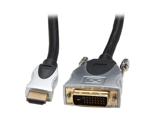 BYTECC 10-HMD 10 ft. Black HDMI male to DVI male HDMI Advanced High speed Male to DVI Male Cable Male to Male