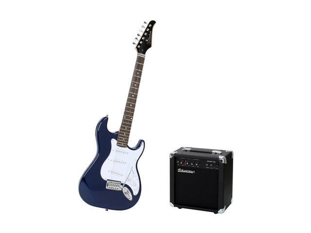 Silvertone Guitars SS11 Electric Guitar and Amp Package-Cobalt Blue