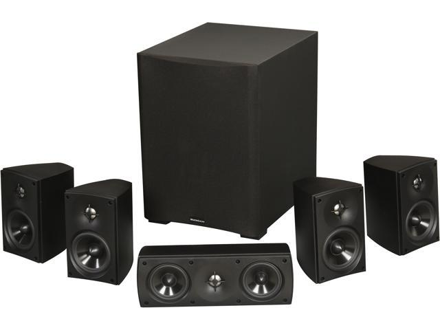MartinLogan MLT-2 5.1 CH Premium Home Theater Speaker System Black System