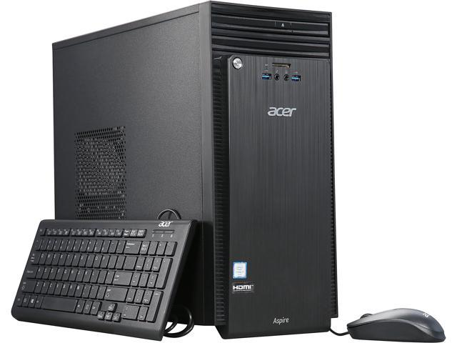 Acer Desktop PC Aspire T ATC-710-UR63 Intel Core i7 6th Gen 6700 (3.4 GHz) 16 GB DDR3 2 TB HDD 96 GB SSD Intel HD Graphics 530 Windows 10 Home 64-Bit