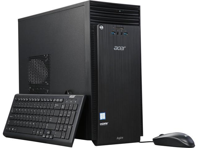 Acer Desktop Computer ATC-710-UC52 Intel Core i5 6th Gen 6400 (2.7 GHz) 16 GB DDR3L 1 TB HDD Intel HD Graphics 530 Windows 10 Home (Manufacturer Recertified)