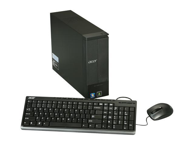 Acer Desktop PC Aspire AX1420-UR10P (PT.SG9P2.003) Athlon II X4 645 (3.1 GHz) 4 GB DDR3 500 GB HDD Windows 7 Home Premium 64-Bit