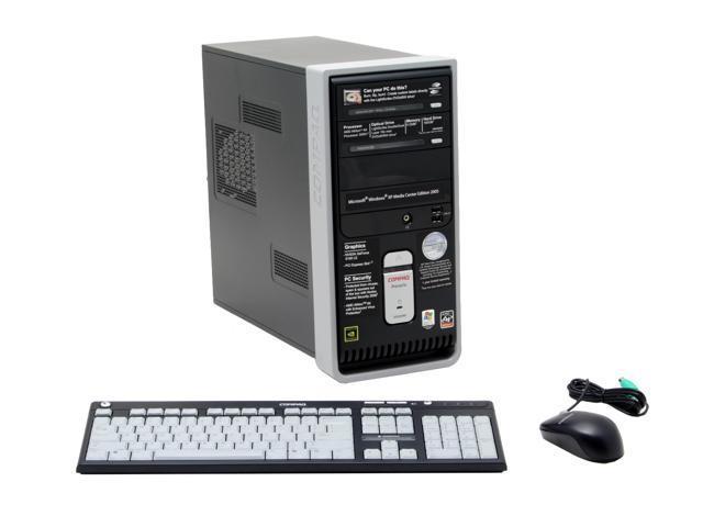 COMPAQ Desktop PC Presario SR2020NX(RE473AA) Athlon 3500+(2.2 GHz) 512 MB DDR2 160 GB HDD Windows XP Media Center